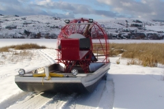 Winter Airboat
